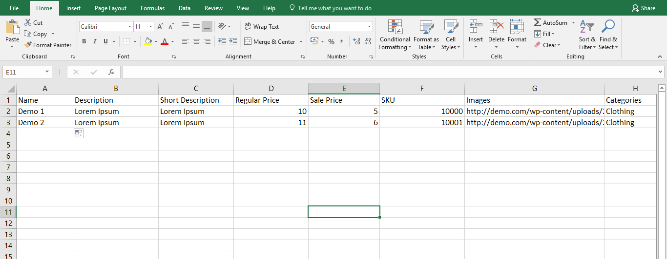excel 2 How to use excel file (.csv) to upload your product on your website