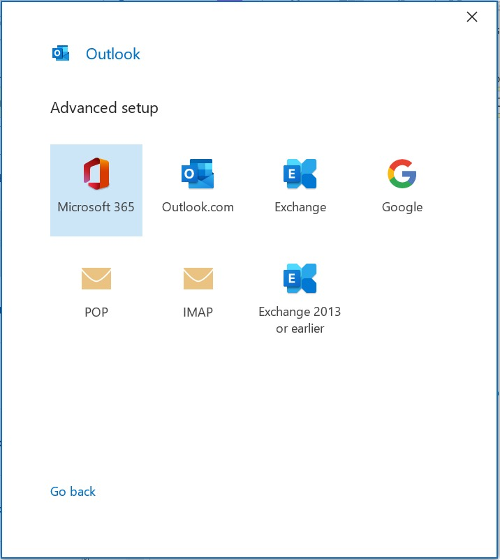IMAP Access Webmail in Outlook