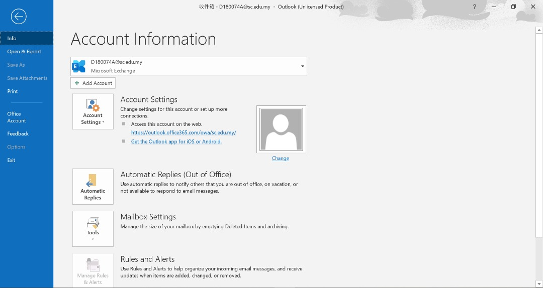 add account Access Webmail in Outlook
