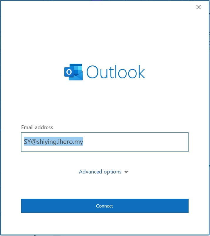 add email Access Webmail in Outlook