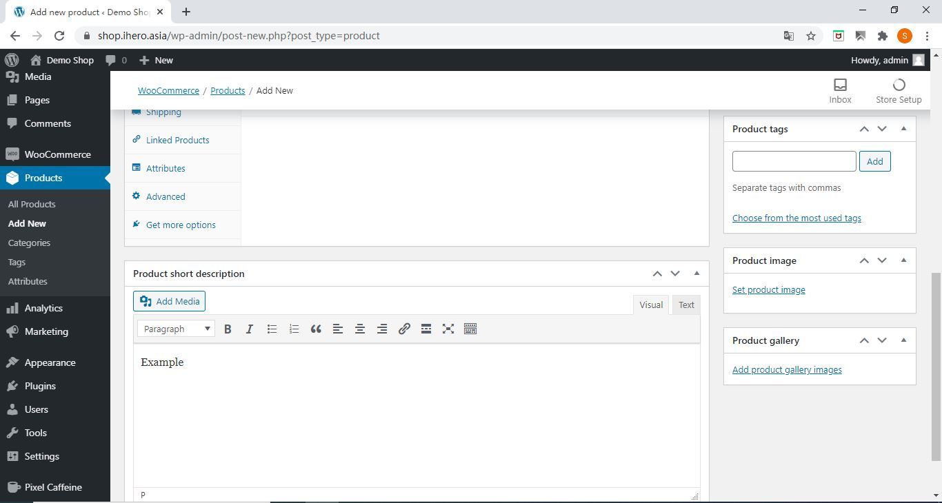 imgshortDes How to add product in WooCommerce