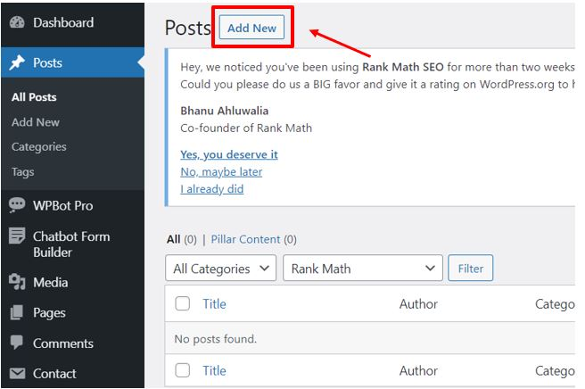 Post1 How to add post and page