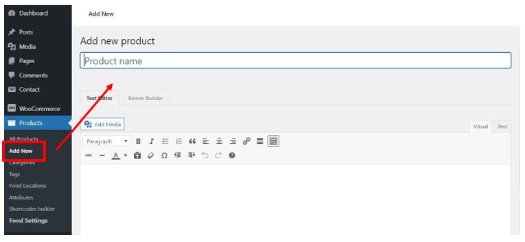 Product1 How to add product and create category